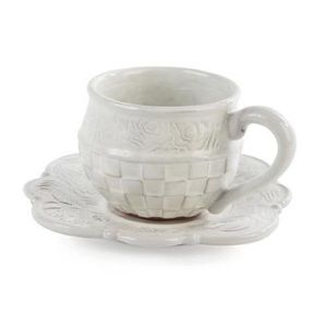 Mackenzie Childs Sweetbriar Teacup and Saucer